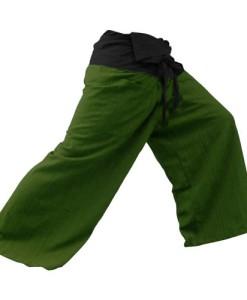 2-TONE-Thai-Fisherman-Pants-Yoga-Trousers-FREE-SIZE-Plus-Size-Cotton-Drill-Striped-0