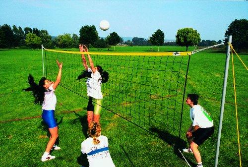 Beach-Volleyball-Volleyball-Freizeit-Set-fr-Normal-Spielfeld-Spielfeldgre-9-x-18-m-in-neongrn-0-0