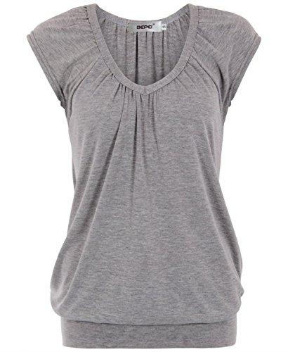 Bepei-Damen-Niedrig-Glatt-Hfte-Lang-Linie-Top-T-Shirt-Sommer-Holiday-0-0