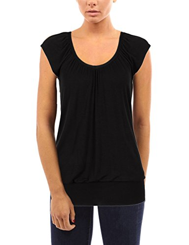Bepei-Damen-Niedrig-Glatt-Hfte-Lang-Linie-Top-T-Shirt-Sommer-Holiday-0-1