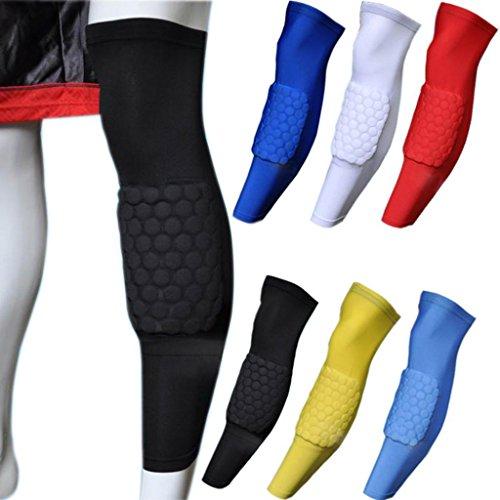 COOLOMG-Schwamm-Pad-Anti-rutsch-Basketball-Lange-Beine-rmel-Kniebandage-Knieschoner-Erwachsene-Kinder-0