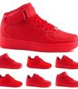 Damen-Herren-Sportschuhe-Sneaker-High-Low-Turn-Skater-Komplett-Rot-Basketball-Schuhe-0