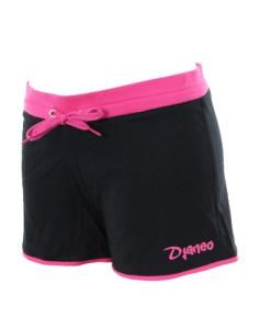 Djaneo-Damen-Sport-Short-Kurz-Baumwolle-Schwarz-und-Rosa-Volleyball-0