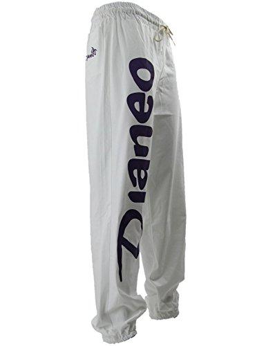 Djaneo-Herren-und-Damen-Jogginghose-Trainingshose-Sweat-pant-Hose-Fitness-Sweatpants-Fitnesshose-in-Wei-und-Lila-Sporthose-Rio-0-0