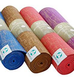 Jute-Yogamatte-Sampati-Jute-High-Quality-Matte-aus-hochwertigen-Jutefasern-und-ECO-PVC-Atmungsaktiv-schadstofffrei-und-sehr-robust-Ideal-fr-hufige-Yogabungen-Mae-183-x-61-x-05cm-in-verschiedenen-Farbe-0