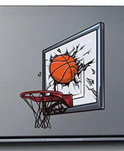 Laptopaufkleber-Laptopskin-Sport-072-Basketball-Ring-150-x-119-mm-Aufkleber-0