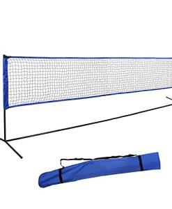Songmics-Badmintonnetz-Hhenverstellbar-Volleyballnetz-Tennisnetz-Netz-Federballnetz-Tragetasche-Mit-Stnder-SYQ400-4m-0
