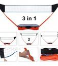 Sportnetze-3in1-Set-Koffer-Tennis-Badminton-Volleyball-Netze-Ballsport-Freizeit-0
