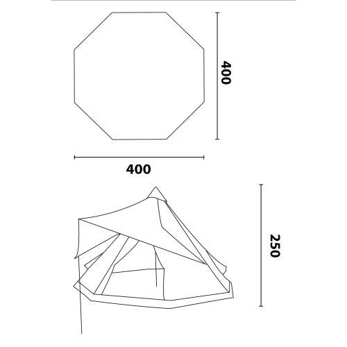 10T-Shoshone-400-8-Personen-Tipi-Pyramiden-Zelt-eingenhte-Bodenwanne-Vordach-Segel-WS5000mm-0-0