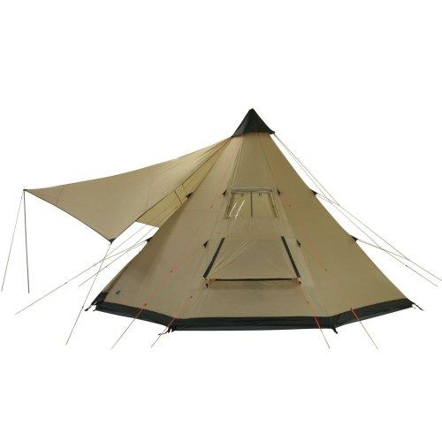 10T-Shoshone-400-8-Personen-Tipi-Pyramiden-Zelt-eingenhte-Bodenwanne-Vordach-Segel-WS5000mm-0-3