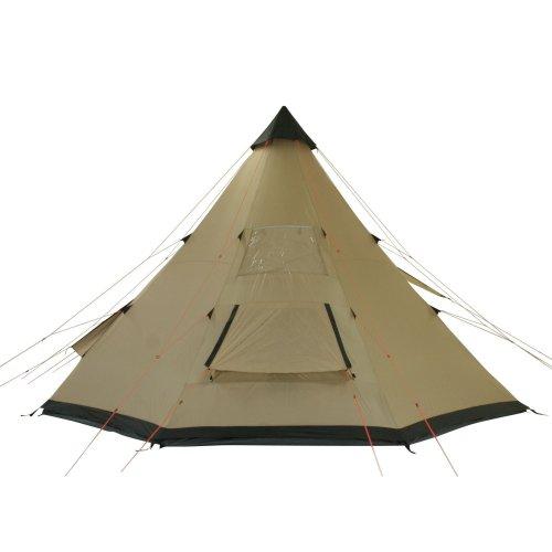 10T-Shoshone-400-8-Personen-Tipi-Pyramiden-Zelt-eingenhte-Bodenwanne-Vordach-Segel-WS5000mm-0-4