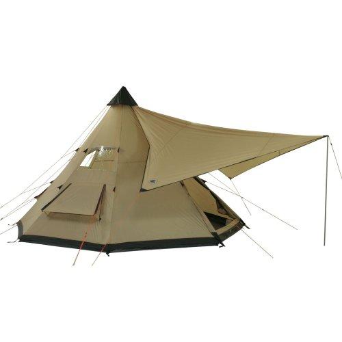 10T-Shoshone-400-8-Personen-Tipi-Pyramiden-Zelt-eingenhte-Bodenwanne-Vordach-Segel-WS5000mm-0-5