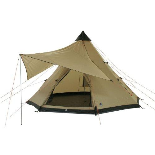 10T-Shoshone-400-8-Personen-Tipi-Pyramiden-Zelt-eingenhte-Bodenwanne-Vordach-Segel-WS5000mm-0