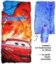 2-in-1-Schlafsack-150-cm-Cars-und-Decke-Kinder-Auto-Car-sehr-leicht-Kinderschlafsack-fr-Kinder-Jungen-auch-als-Decke-Camping-Campingschlafsack-0