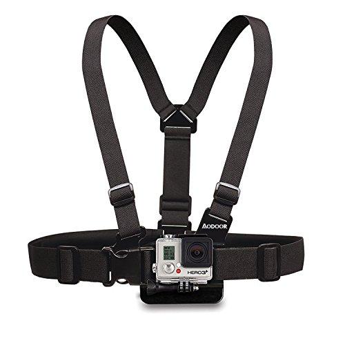 Aodoor-Gopro-Zubehr-5-in-1-Kit-fr-Gopro-HD-Hero4-Hero3-Hero3-Hero2-Held-Kamera-M-Ebene-J-frmigen-Grund-Car-Saugnapf-Halterung-sieben-Zentimeter-in-Chassisdurchmesser-Brustgurt-Kopfband-montieren-Auftr-0-1