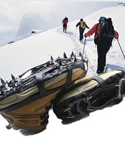 CAMTOA-1-Paar-Steigeisen-Schuhe-Spikes-Schneekette-Silikon-Anti-Rutsch-Spikes-mit-18-ZhneLeicht-Bergschuhstiefel-Bergberschuhe-fr-Wandern-Eis-Schnee-0