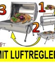 Campingkocher-CAMPING-GRILL-2-Grillroste-Chrom-Edelstahl-Grill-Holzkohlegrill-ohne-Gasgrill-0