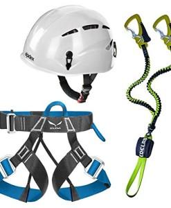 Edelrid-Klettersteigset-Cable-Comfort-23-Alpidex-Universal-Kletterhelm-ARGALI-in-bright-white-Salewa-Klettergurt-Via-Ferrata-Evo-0