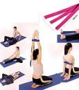 Huayang-D-Ring-Yoga-Pilates-Gurtband-Band-Equipment-Taille-Leg-bung-Fitness-Abbildung-Props-schwarz-0