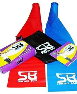NEUPremium-Bestseller-Fitnessband-bestes-THERAPYBAND-Allergiker-geeignet-TOP-Qualitt-Geruchsneutral-Reifest-Inkl-bungsheft-Aufbewahrungsbeutel-2-Strken-Set-mit-je-25m-Xtralnge-Limitiertes-Angebot-Jetz-0