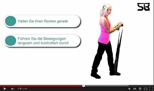 NEUPremium-Bestseller-Fitnessband-bestes-THERAPYBAND-Allergiker-geeignet-TOP-Qualitt-Geruchsneutral-Reifest-Inkl-bungsheft-Aufbewahrungsbeutel-2-Strken-Set-mit-je-25m-Xtralnge-Limitiertes-Angebot-Jetz-0-7