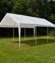 Nexos-GM35940-Pavillons-Hochwertiges-Festzelt-Partyzelt-PE-wasserdicht-4-x-6-m-wei-0-1