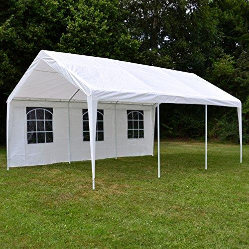 Nexos-GM35940-Pavillons-Hochwertiges-Festzelt-Partyzelt-PE-wasserdicht-4-x-6-m-wei-0-2