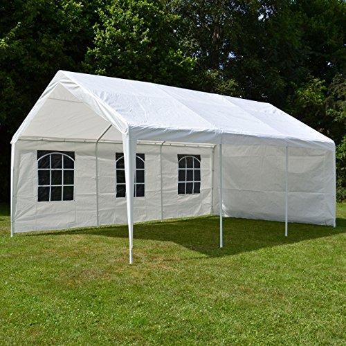 Nexos-GM35940-Pavillons-Hochwertiges-Festzelt-Partyzelt-PE-wasserdicht-4-x-6-m-wei-0-3