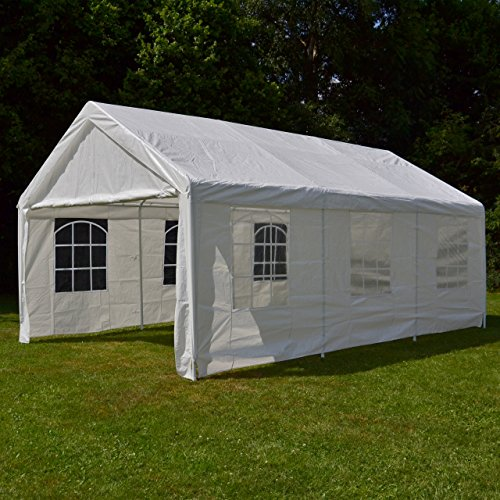 Nexos-GM35940-Pavillons-Hochwertiges-Festzelt-Partyzelt-PE-wasserdicht-4-x-6-m-wei-0-4