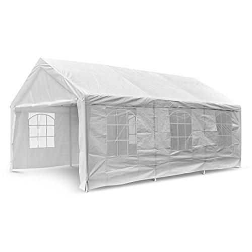 Nexos-GM35940-Pavillons-Hochwertiges-Festzelt-Partyzelt-PE-wasserdicht-4-x-6-m-wei-0