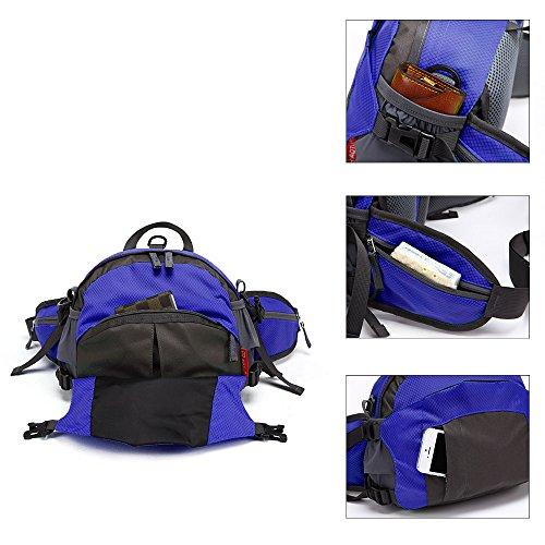 TOMOUNT-Rcksack-Rucksack-Schulter-Umhngetasche-Hfttasche-Brustbeutel-Bauchtasche-Grteltasche-Sports-Wandern-Campus-Kamera-Wasserdicht-Grn-Rot-Blau-Dunkelgrn-0-4