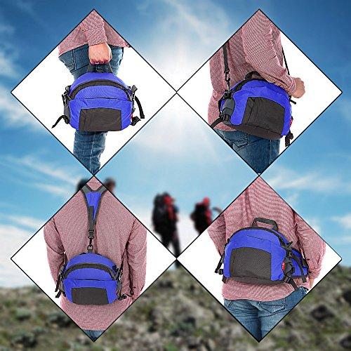 TOMOUNT-Rcksack-Rucksack-Schulter-Umhngetasche-Hfttasche-Brustbeutel-Bauchtasche-Grteltasche-Sports-Wandern-Campus-Kamera-Wasserdicht-Grn-Rot-Blau-Dunkelgrn-0-5