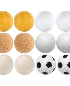 12-Stck-Kicker-Blle-Mischung-6-verschiedene-Sorten-2x-Kork-4x-PE-2x-PU-4x-ABS-Durchmesser-35mm-Tischfussball-Kickerblle-Ball-0