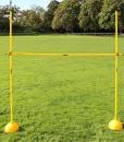 Hrdenset-mit-Rundfu-und-Stangen-180-cm-aus-wetterfestem-Kunststoff-Farbe-gelb-fr-Teamsportbedarf-Fuballtraining-0