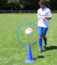Kegel-50-cm-hoch-mit-Ring--70-cm-Farbe-blau-fr-Teamsportbedarf-Fuballtraining-0