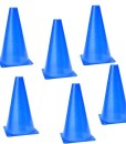 TOOGOO-R-6-Stueck-Multifunktion-Sicherheits-Agility-Kegel-fuer-Fussball-Sportplatz-Notfalluebung-Kennzeichnung-blau-0