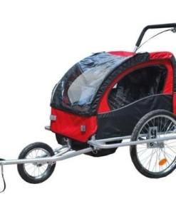 2-in-1-Jogger-Fahrradanhnger-Fahrrad-Anhnger-Transportwagen-0