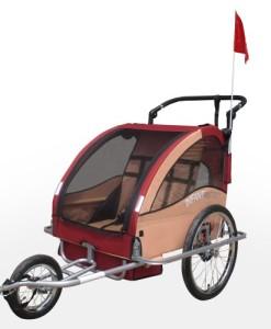 2-in-1-Jogger-und-Fahrradanhnger-fr-bis-zu-2-Kinder-klappbar-und-gefedert-Farbwahl-0