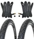 2-x-Fahrradreifen-Kenda-Pannensicher-26-Zoll-26x195-50-559-K-Shield-mit-Reflexstreifen-inklusive-2-x-26-Schlauch-mit-Autoventil-0