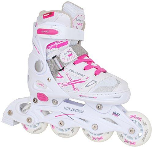 2in1-Schlittschuhe-Inliner-NEO-X-DUO-ABEC5-pink-wei-Gr-29-32-33-36-37-40-verstellbare-Mdchen-Skates-0-0