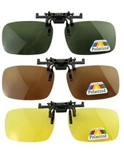 3x-Herren-Frauen-polarisierten-Sonnenbrillen-Myopie-Nachtsichtbrille-Praktische-Brille-Clip-on-Spiegel-0