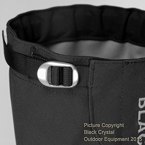 Black Crystal Wandergamaschen wasserdicht atmungsaktiv Nylon f/ür Herren schwarz Gr/ö/ße Gro/ß