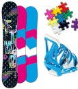 FTWO-Bloom-Snowboard-Set-130cm-GRATE-Bindung-Gr-M-ab-EU-36-Pad-0