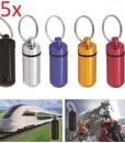 Grenhaven-Mini-Pillendose-Mini-Kapsel-Pillenbox-Pillen-Box-Cash-Stash-Schwarz-Silber-Rot-Gold-Blau-Schlsselanhnger-AufbewahrungsBox-klein-Wasserdichte-Tablettendose-Kapsel-Pillen-Dose-Alu-Aluminium-0