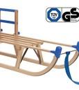 Impag-Holzschlitten-Rodelschlitten-mit-Zuggurt-und-Lehne-Blau-Davos-105-125-cm-lang-0