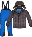 Skianzug-Killtec-Skifunktionsjacke-Winterjacke-Kariert-Skihose-Blau-Grenwahl-0