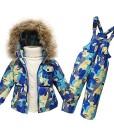 iikids-Baby-Kinder-Set-Daunenjacke-mit-Kaputze-Bekleidungsset-Baby-Kinder-Junge-Mdchen-Verdickte-Winterjacke-Winterhose-Kleinkind-5-Farben-Daunenhose-Jacket-Kinderskianzug-0