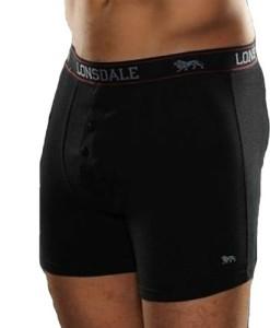 2-x-LONSDALE-Herren-Unterwsche-Boxershorts-Trunk-Boxer-Shorts-Schwarz-0