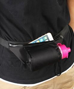 2-TECH-Sportgrteltasche-mit-Trinkflaschen-Halter-Handygrtel-Grteltasche-Laufgrtel-in-schwarz-ideal-fr-Jogging-Laufen-fr-Handy-Schlssel-Karten-0