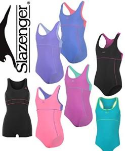 2-bis-15-Jahre-Slazenger-Badeanzug-Mdchen-Schwimmanzug-in-10x-verschiedenen-Farben-Kleinkinder-Baby-Mdchen-0